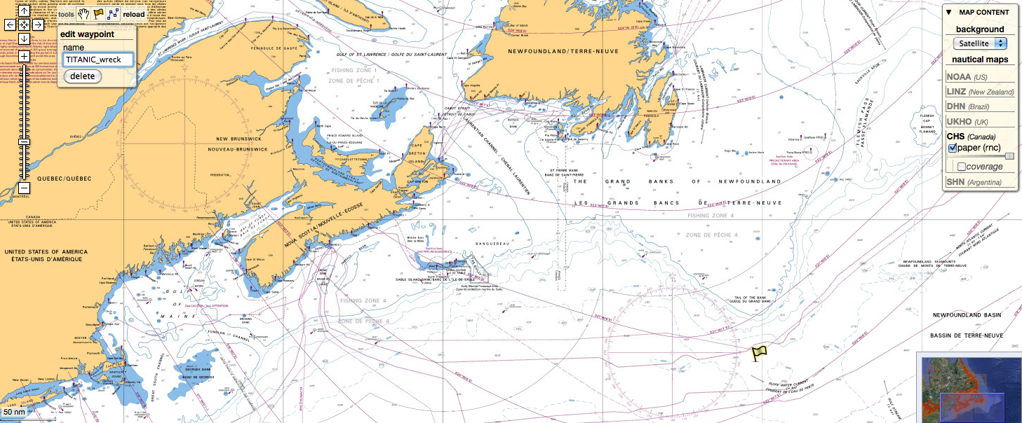Titanic Position In The Marine Geogarage
